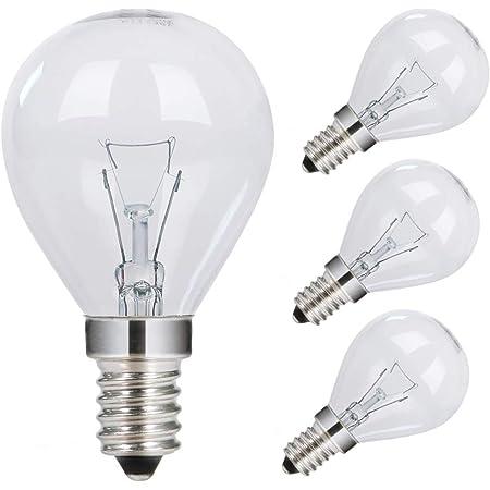 GMY Ampoule Four 40W 230V E14 SES Ampoule de Four à Balles de Golf Ampoule P45 Lampe de Four Pour Four Neff Four Bosch Four Siemens 300 ℃ tolérant à la Chaleur 4 Pack
