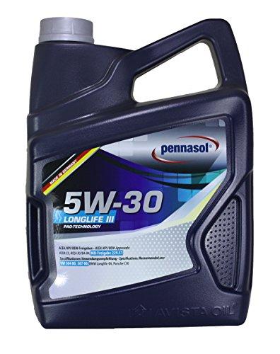 Pennasol Motoröl Longlife III SAE 5W-30, 5 Liter