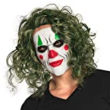 Boland 97578 – Máscara de villano, máscara facial de látex con pelo, máscara terrorífica, Halloween, carnaval, fiesta temática, disfraz