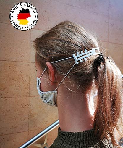 [5 +1 Gratis] Maskenverlängerung Ohrenschoner, Maskenhalter, Maskenverlängerungshaken passend für Mundschutz Maske, geeignet für Erwachsene und Kinder zur Linderung von Ohrschmerzen