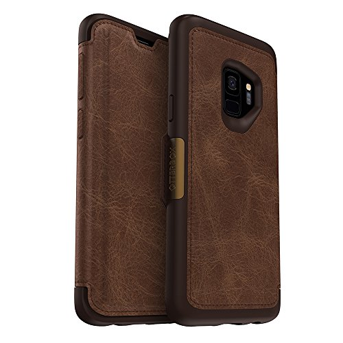 OtterBox STRADA SERIES Case for Samsung Galaxy S9 - Retail Packaging - ESPRESSO (DARK BROWN/WORN BROWN LEATHER)