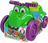 Mega Bloks Cocodrilo monta y zampa, juguete bloques de construcción para niños +1 año (Mattel GFG22) , color/modelo surtido