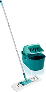 Leifheit Set Essoreur Profi Compact, ensemble nettoyage avec balai serpillère, lave-sol avec manche en 3 parties, essorage...