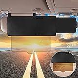 Car Visor Extender, Polarized Sun Visor Multifunctional Retractable Polycarbonate HD Automotive Sunshade Blocker for Car Anti-Glare, Uv, Fog and Snow Blindness 13'