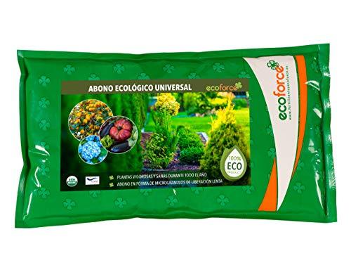 CULTIVERS Abono Ecológico Universal de 1,5 kg. Fertilizante granulado con NPK 8-1-5+74% M.O. y Ác....