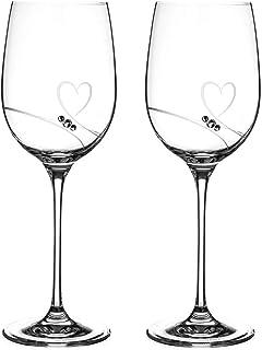 【DIAMANTE】Romance Red Wine S/2【ディアマンテ】ロマンス 赤ワイングラス スワロフスキー ペアセット