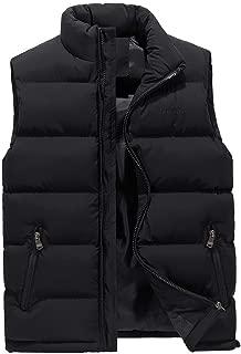 YOcheerful Men Vest Autumn Winter Solid Waistcoat Vest Outerwear Jacket Coat Gilet Sleeveless Top Blouse
