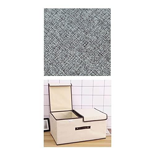 Cajas De Tela Cajas Almacenaje con Tapa Armarios para Ropa Zapatos Libros Cosméticos Juguetes Etc(Size:50×30×25cm,Color:Beige)