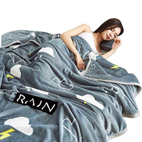 Decken Flauschige Blanket, Flanell Fleece Throw Blankets-Superweiche Flauschige, graue Wolkenmuster (Color : Gray, Size : 100 * 120cm)