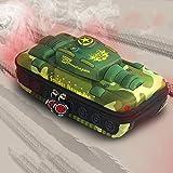 xingguang Estuche de lápices Tank Creative para niños y niñas, bolsa de lápices EVA multifunción de gran capacidad Cool 3D Pencil Case (Color: Verde)