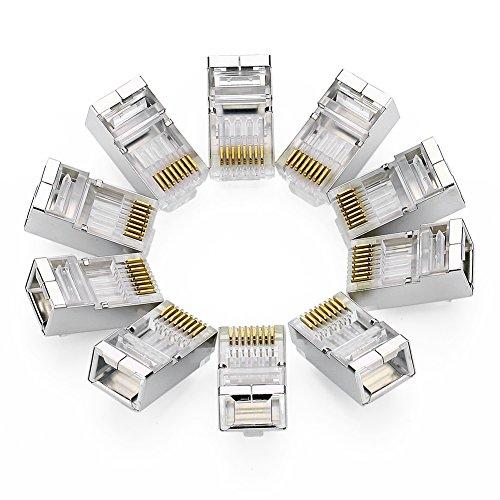 UGREEN 10 Unidades de Conectores RJ45 Blindados 8PCS STP para Cable Ethernet...