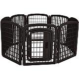 AmazonBasics 8-Panel Plastic Pet Pen Fence Enclosure With Gate - 59 x 58