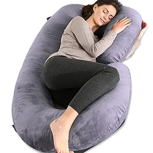 자고 C 모양의 바디 베개에 대 한 냉각 된 가정 임신 베개 임신 베개 벨벳 덮개와 함께 55 인치 임신 바디 베개를 자고 55 인치 임신 바디 베개를위한 임신 베개 임신 베개