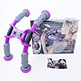 AbXcore - Ab Machine Exercise Equipment - Abdominal Workout Equipment for Core Ab Trainer Fitness Equipment - Home Gym Ab Exercise with Abs Machine Work Out (PURPLE) Include 4x 3lbs resistances( light ones) *phone attachment NOT INCLUDED. More accessories available in our online store.