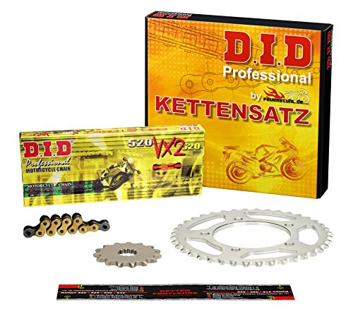 Kettensatz Ducati Monster 600 Dark, 1999-2001, Typ M3, DID X-Ring (VX2 gold) extra verstärkt