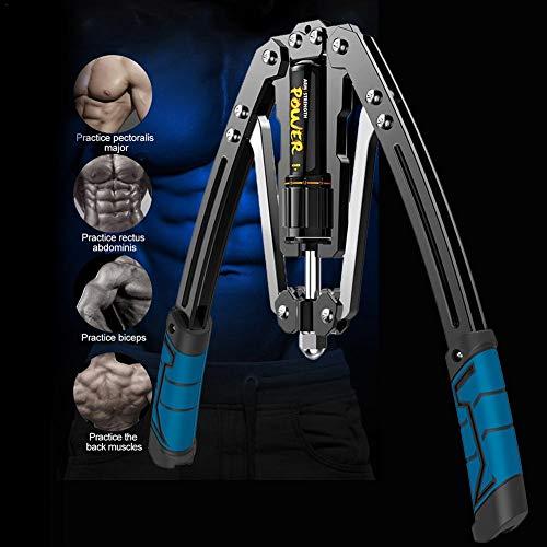Arm Force Bar Einstellbare Power Twister Hydraulikdruck Brust Und Arm Builder, Einstellbare Kraft Trainer Pull Exerciser Fitness Trainingsgerät Fitnessgeräte (10-200 Kg, Freie Einstellung)
