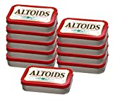 10er SET Altoids Peppermint 50 g in der Dose / Pfefferminz Pastillen / Pfefferminzbonbons