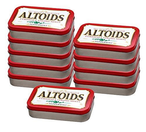 10er SET Altoids Peppermint 50 g in der Dose / Pfefferminz Pastillen / Pfefferminzbonbons