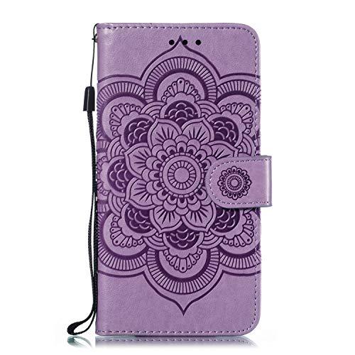 Kesv Kompatibel für LG Stylo 4 Q Stylus Plus Handyhülle Premium Leder Flip Schutzhülle Schlanke Brieftasche Hülle Flip Hülle Handytasche Lederhülle mit Kartenfach Etui Tasche Cover