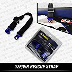ONLY available for Yamaha YZF and WR models. Soft and Strong Strap, length: 210mm~320mm (adjustable). To haul a fallen motorbike of 300 pounds with confidence and safety. When get stuck in the trail or dragged by track, most dirt bikes don't have a p...