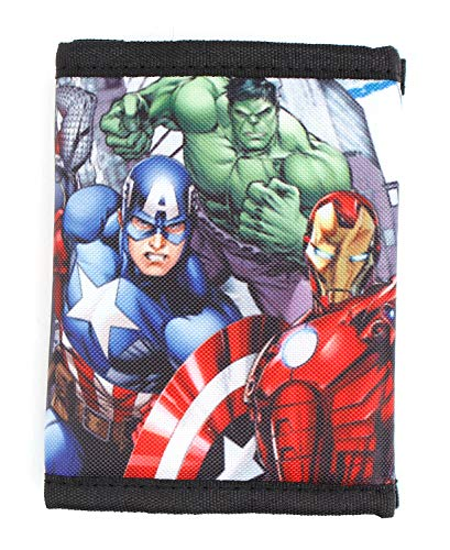 Marvel Avengers Super Hero Stuff Comics Trifold Wallet for Boys Children Kids