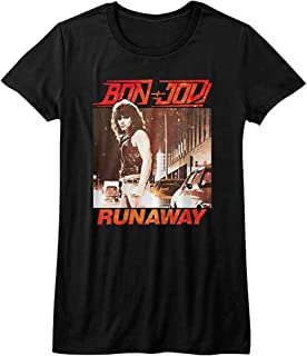 BON JOVI ボン・ジョヴィ (デビュー35周年記念) - RUNAWAY/Tシャツ/レディース 【公式/オフィシャル】