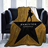 customgogo Herm Alone Musicals Hamilton Ultra Soft Micro Fleece Blanket, Air Conditioner Blanket, Suitable for Bed,Sofa,Chair, Camp Bed Living Room 50'X40' Black