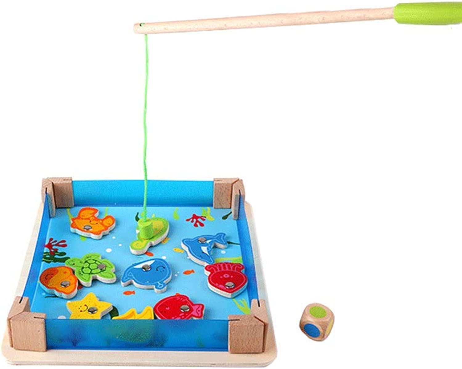 LIUFSToy Pond Fishing Game Educational Toy Set Magnetic 36 Years Old (color   Multicolord, Size   L)