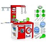Cocina de Juguete Molto Kitchen con lámpara + Complementos (Cocina + Set de Accesorios)