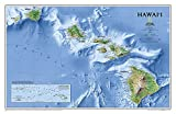 National Geographic: Hawaii Wall Map (34.75 x 22.75 inches) (National Geographic Reference Map)