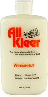 All Kleer 8 oz - Premium Plastic Polish & Cleaner - Cleans & Polishes: Plastic/Glass Windshield, Motorcycle Visor/Windshield, Golf Cart Body/Windshield, Marine/Boat, Aircraft, Lens, Device Screens -