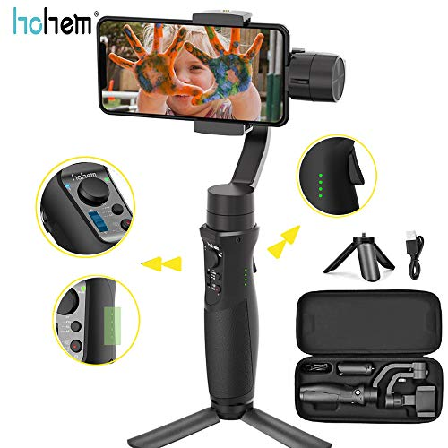 Hohem iSteady Mobile Plus Gimbal Stabilizzatore per Smartphone -iPhone Gimbal 280g Payload con modalità Sport Inception, Face Tracking, Motion Time-Lapse APP Control VLOG per iPhone/ Samsung/Huawei