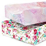 Changing Pad Cover Sheets, Premium 100% Jersey Knit Cotton Diaper Changing Pad Cover, 2 Pack