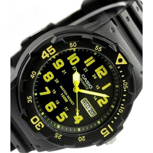 ≪CASIO≫Diver's-Look 10気圧防水 スポーツウォッチ メンズ向ユニセックス MRW-200H-9B