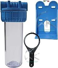 """WK Kit récipient 10"""" vide pour filtre (raccords 3/4"""") avec support de fixation et clé   Fabriqué en Italie,"""