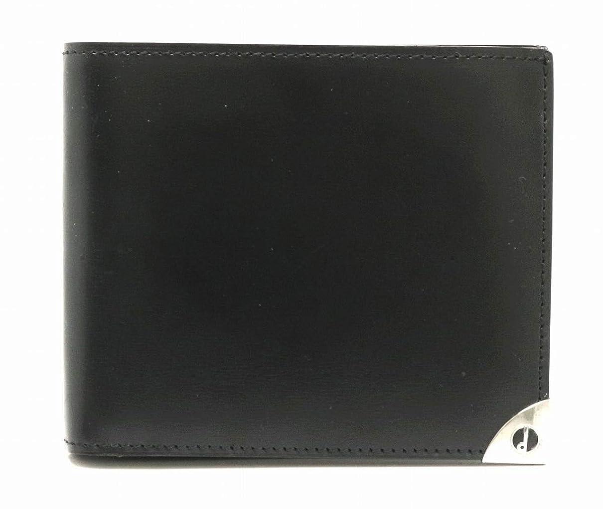 心理的に美容師相関する[ダンヒル] dunhill ロンドンスタイル レザー 2つ折り財布 札入れ ブラック 黒 [中古]