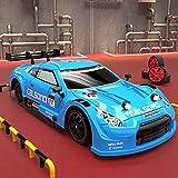 CUIGANGZ GTR RC Coche, 2.4 g de control remoto inalámbrico de carreras deportivas, 1/16 escala eléctrica 4WD RC Vehículo de deriva, de alta velocidad. RC Coche deportivo con DIRIGIÓ Luces, regalos for