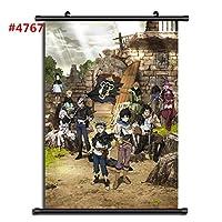 ブラッククローバーアニメマンガウォールポスタースクロールホームデコレーションウォールアート16x24inch / 40x60cm