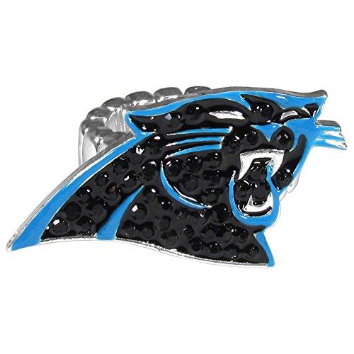 Anel de cristal feminino NFL Siskiyou Sports Carolina Panthers tamanho único