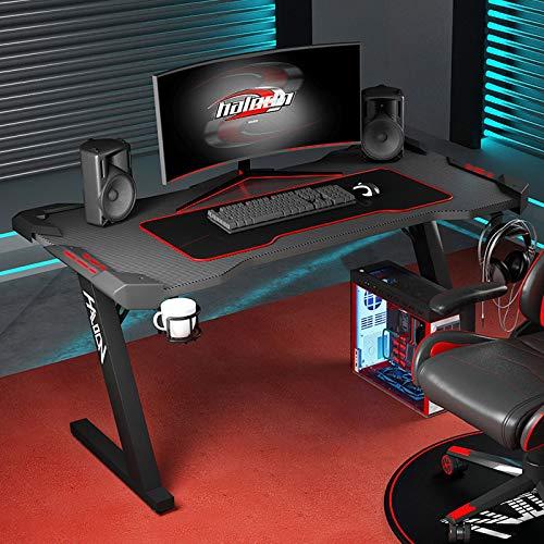SAFAJINHH Mesa para Gaming con Gancho para Auriculares,Altura Ajustable Escritorio para Computadora,Mesa Despacho para Casa Oficina-Black-b 120x60x72cm