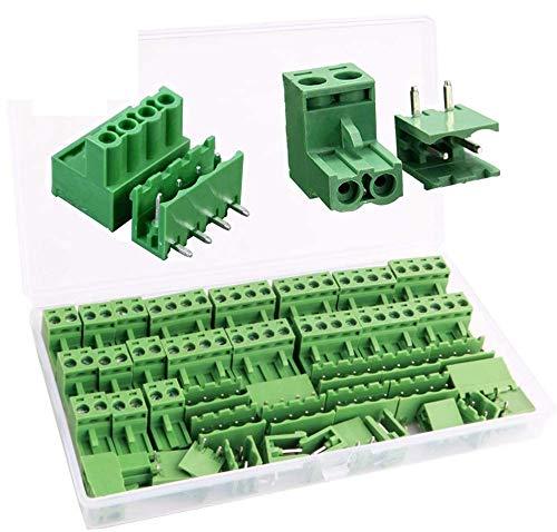 RUNCCI-YUN 5.08 mm distanza 2 Pin 4 Pin plug-in vite PCB terminal block connettore ad angolo retto (40 pz, 20pairs)