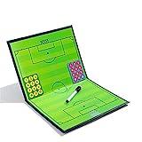RoseFlower Carpeta Táctica de Futbol, Carpeta Pizarra Táctica de Entrenamiento Entrenador Magnéticas de Fútbol con Imanes, Lapiceros y Borrador (Tamaño: 44cm x 32cm)
