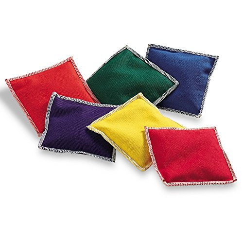 Learning Resources Rainbow Bean Bags, Counting, Sorting, Hand Eye Coordination, 6-Piece