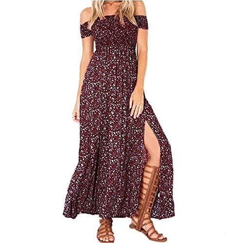 Bipily Vestidos de Mujer Vestido Informal Floral Vestidos Largos sin Tirantes Vestido...