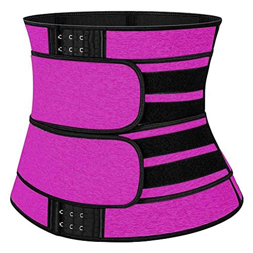 BSTEle Sauna Cintura Entrenador Mujeres Sudor Cinturón Neopreno Cintura Trimmer Corsé Cintura Cincher Faja Deportiva Adelgazante para Pérdida de Peso Fitness