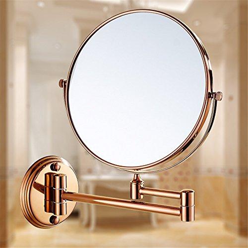 MIWANG Les salles de Bains sont de l'or Un Miroir Miroir de rétroviseur Rabattable WC Extension Recto Verso Anciens agrandir Le Miroir de courtoisie, 8 Pouce
