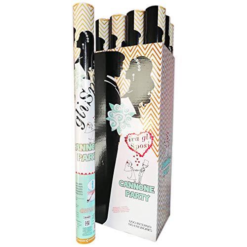 DUE ESSE Tubi sparacoriandoli 60 cm w Gli sposi Color Bianco Matrimonio Festa sposi (8 SPARACORIANDOLI)