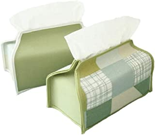CffdoiZJ 牧歌的なパッチワークのティッシュボックス小新鮮な布のポンプボックス北欧の紙のカバーリビングルーム車の創造的な紙袋