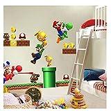 Super Mario Bros Mural Wall New Decals Sticker Kids Room Decor Vinilo extraíble 45x60cm