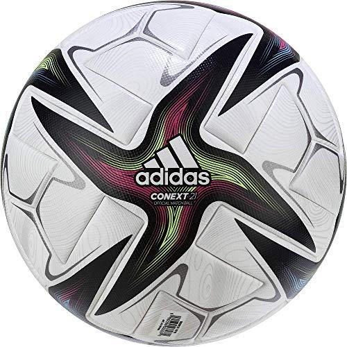 adidas CNXT21 Pro Balón, Hombres, Blanco/Negro/ROSSHO/VERSEN (Multicolor), 5